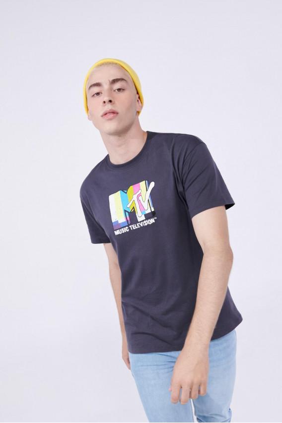 Camiseta manga corta estampada de MTV.