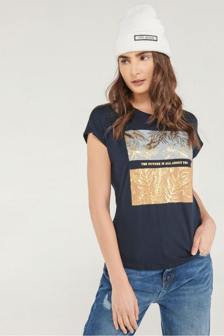 Camiseta sin mangas, estampada con perlas