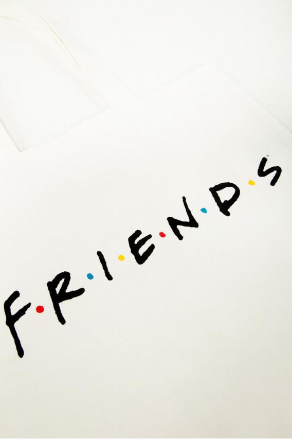 Bolso, drill, estampado, Friends