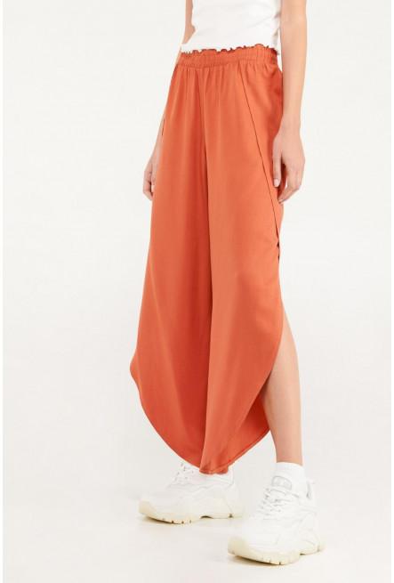 Pantalón culotte con aberturas