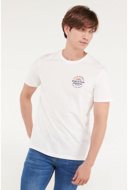 Camiseta manga corta estampado minimalista