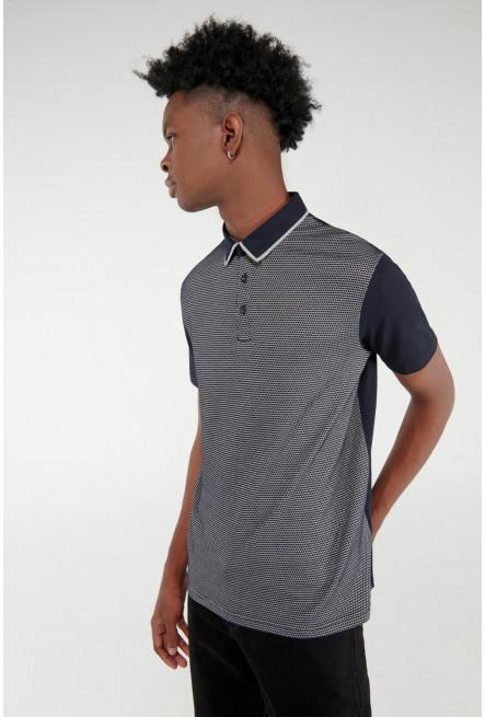 Camiseta Polo unicolor con cuello en tela plana
