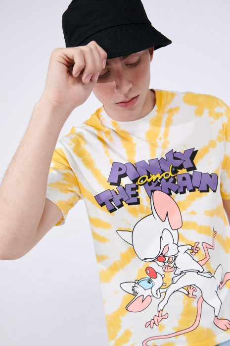 Camiseta Tie-dye cuello redondo de Pinky & Cerebro