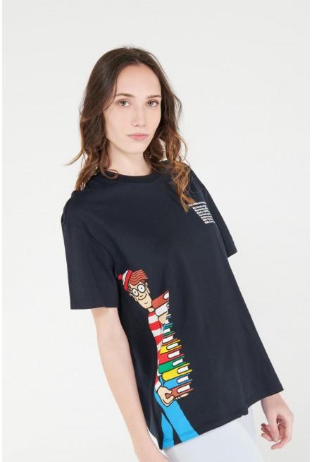 Camiseta cuello redondo de ¿Dónde está Wally?
