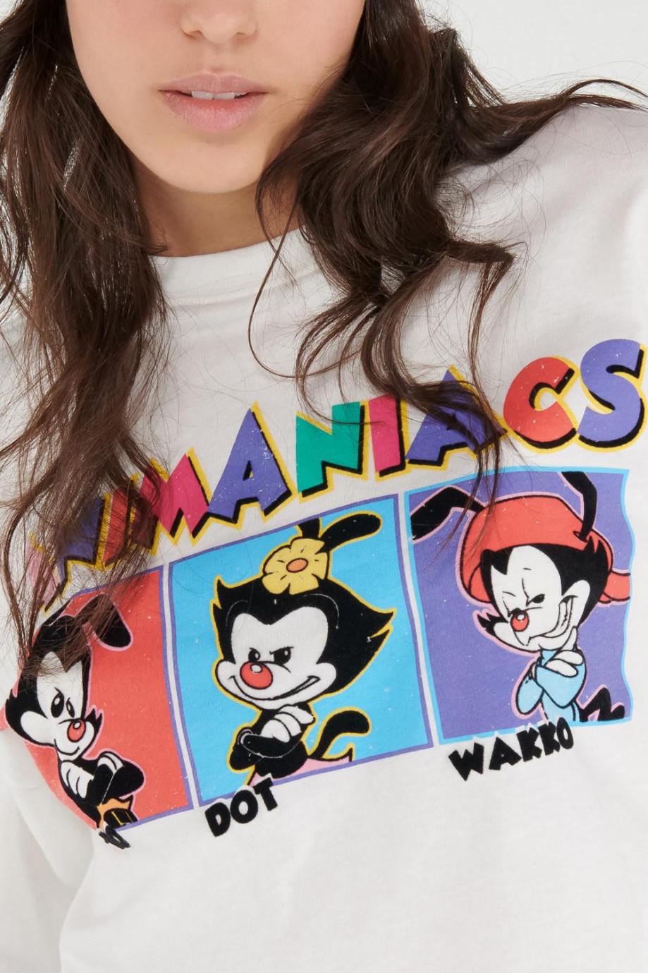 Camiseta manga corta estampada de Animaniacs.