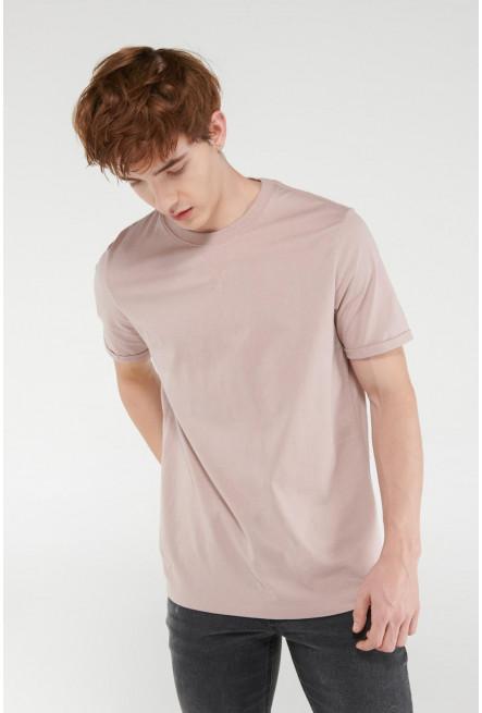 Camiseta unicolor manga corta