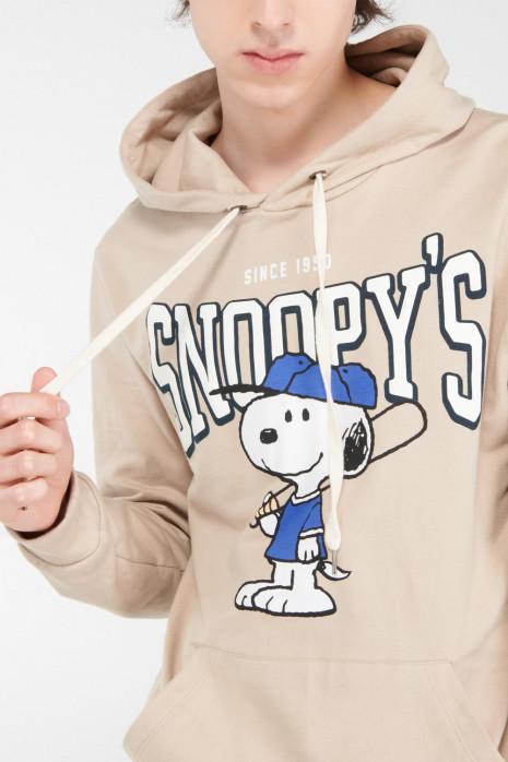 Buzo con capota, estampado de Snoopy.