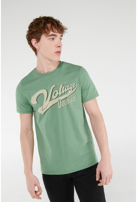 Camiseta manga corta estampada.