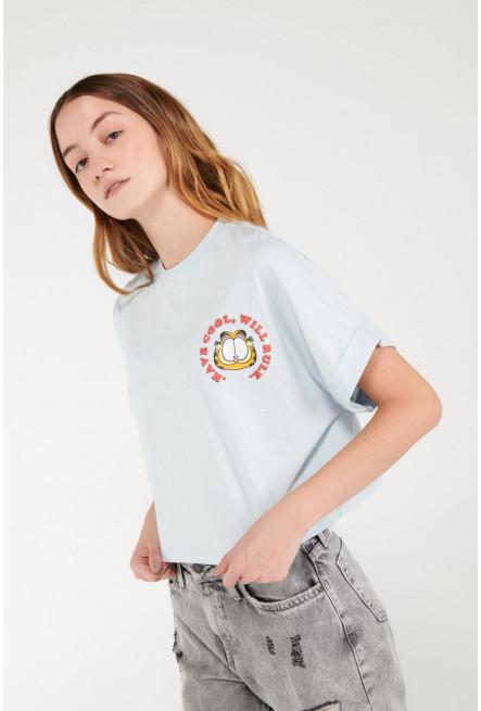 Camiseta estampado de Garfield.