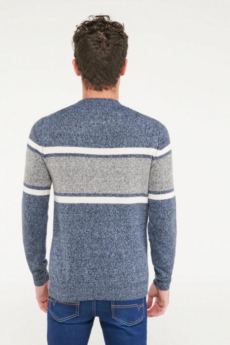 Suéter cuello redondo con motivo