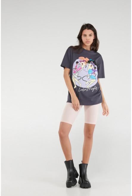 Camiseta manga corta, estampado de Los Picapiedra