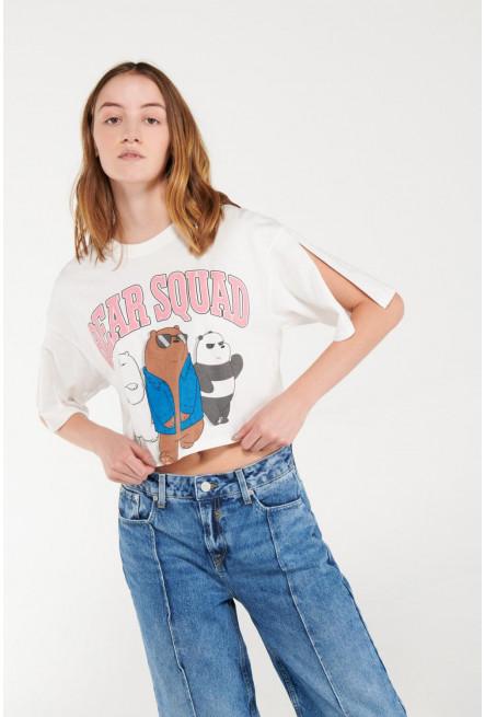 Camiseta manga corta estampada de Escandalosos.