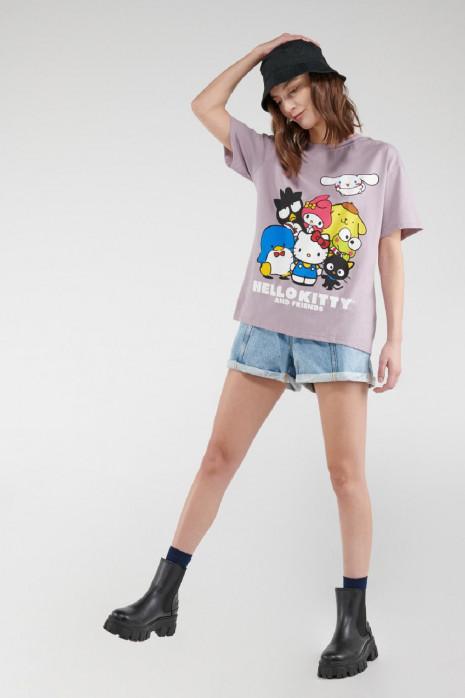 Camiseta manga corta, estampado de Hello Kitty
