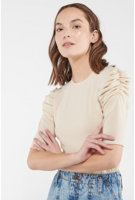 Camiseta manga ¾ unicolor