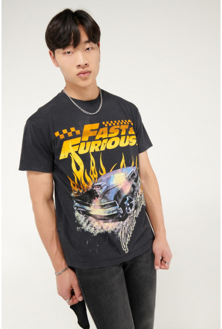 Camiseta manga corta estampado de Rápido y Furioso.