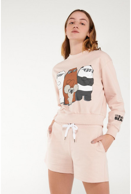 Short unicolor con bolsillos