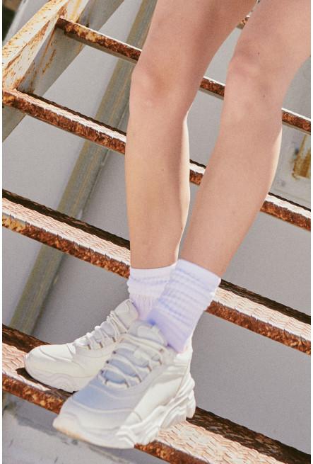 Tenis chunky unicolor con detalle en lateral