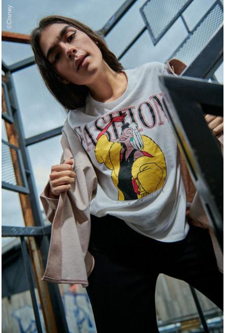 Camiseta, estampada de Cruella de Vil.