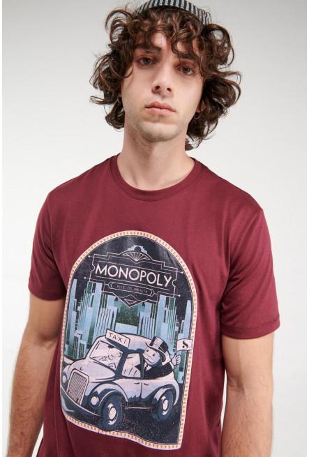 Camiseta manga corta, estampado de Monopolio