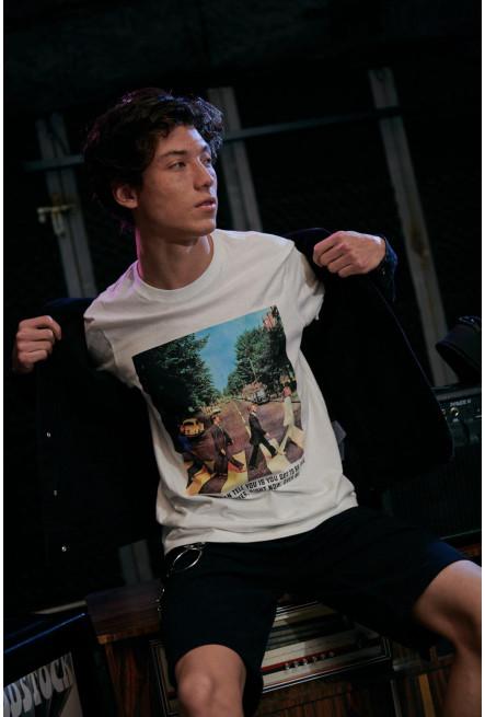 Camiseta manga corta, estampado The Beatles