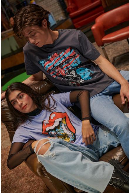 Camiseta manga corta, estampado de Rolling Stones