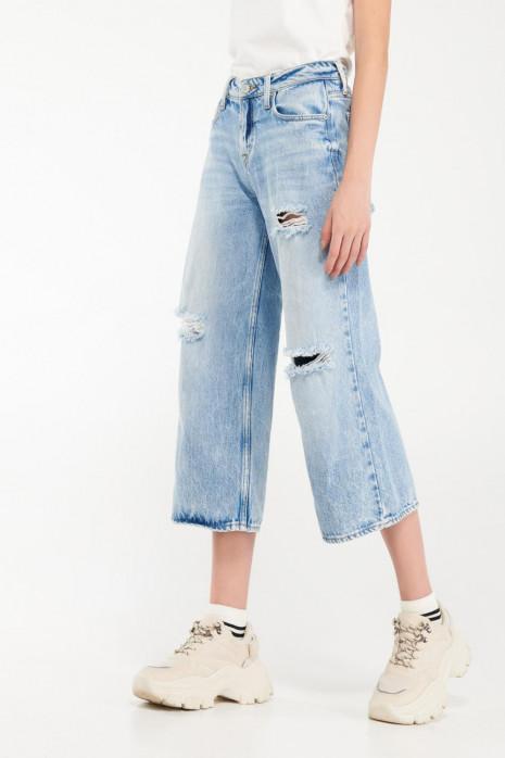 Jean culotte con rotos