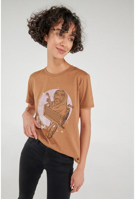 Camiseta manga corta, estampado de E.T.