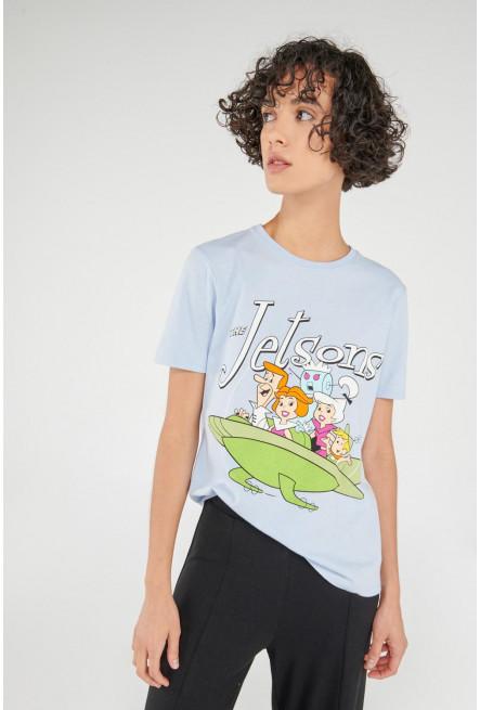 Camiseta manga corta, estampado de Los Supersonicos