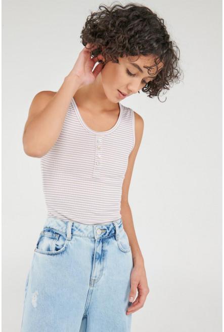 Camiseta manga sisa con cuello halter