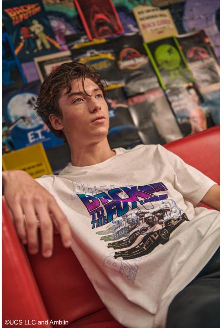 Camiseta manga corta, estampado de Volver al Futuro.