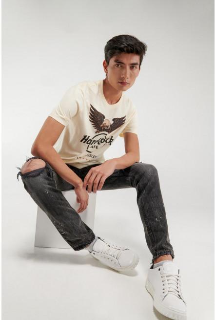 Camiseta manga corta, estampado de Hard Rock Café