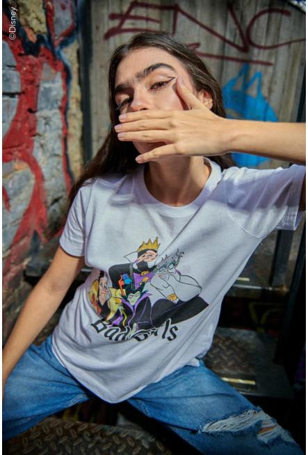 Camiseta, estampada Ursula, Malefica, Evil Queen y Cruella de Vil.