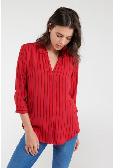 Blusa a rayas manga larga