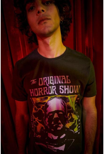 Camiseta manga corta, estampado de Frankenstein