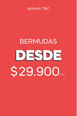 Bermudas desde $39.900