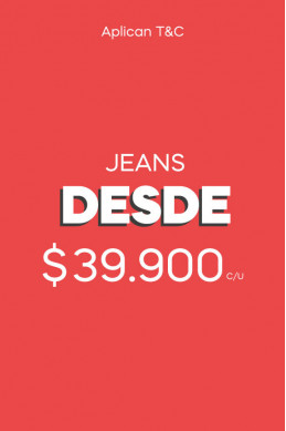 Jeans desde $39.900