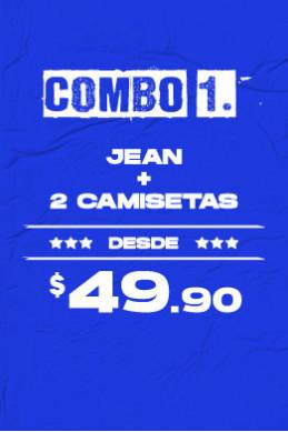 Jean + 2 Camisetas