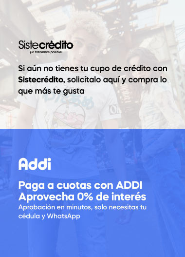 Paga a cuotas con ADDI - sin intereses